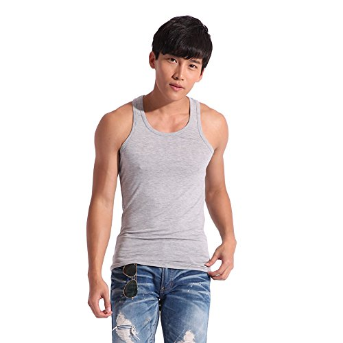 Confreebroon's Men's Sports Fitness Vest Summer Modal Elastic Vest (Gray, 3xl) (Old Navy Tech Vest compare prices)