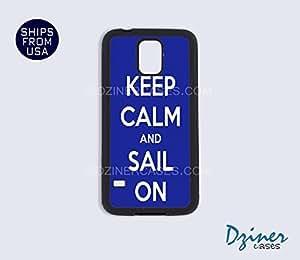 Galaxy S4 Heavy Duty Tough Case Cover - Keep Calm Sail On