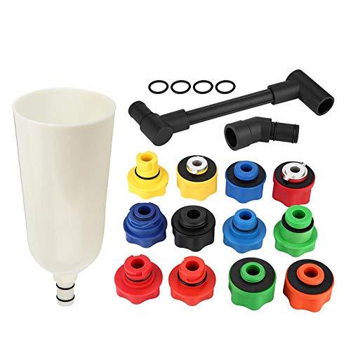 Aramox 15pcs Automotive Car Truck Engine Oil Funnel Filler with Adaptor Tool -
