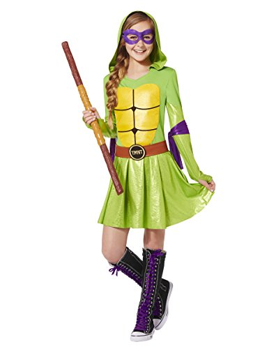Costumes For Halloween For Teenage Girls (Spirit Halloween Kids' Hooded TMNT Dress Costume - Teenage Mutant Ninja Turtles)