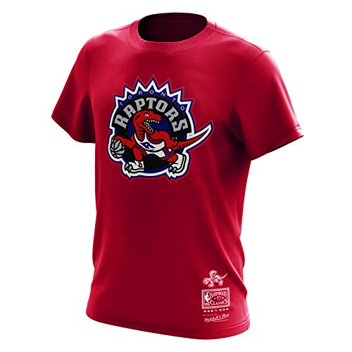 Mitchell & Ness Toronto Raptors NBA Hardwood Classics Retro Logo Red Tee