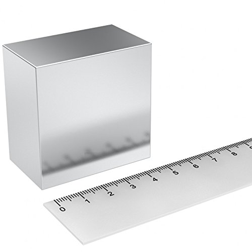 MTS Magnete N52 - Quadrati magnetici al neodimio, nichelati, 50 x 50 x 30 mm