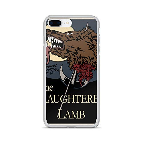 iPhone 7 Plus/8 Plus Case Anti-Scratch Motion Picture Transparent Cases Cover The Slaughtered Lamb Movies Video Film Crystal Clear]()