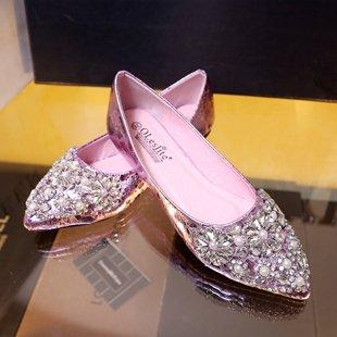 Set piedi scarpe la per della scarpe ai luce ugello colori di con acqua pattino singola di perforazione piatte caduta Balletto casual Scarpe punta bordato i Purtroppo piano donna Angrousobiu 7C8Hx8
