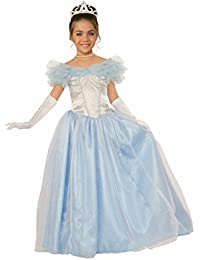Kids Happily Ever After Princess Costume, Blue, Large