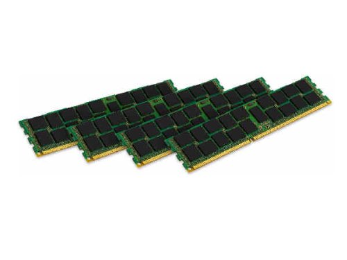 Kingston Technology ValueRAM 32GB Kit (4x8GB Modules) 1600MHz DDR3 PC3-12800 ECC Reg CL11 DIMM DR x4 Server and Motherboard Memory KVR16R11D4K4/32