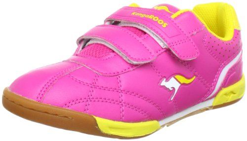 KangaROOS Hector-Combo 11035/804 - Zapatillas de deporte para niños Rosa (Pink (lillipilli/neonyellow 689))