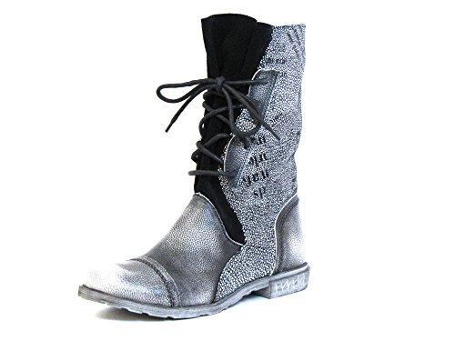 grau Stiefel Damen SCHWARZ schwarz 8930 Simen FnZ6t