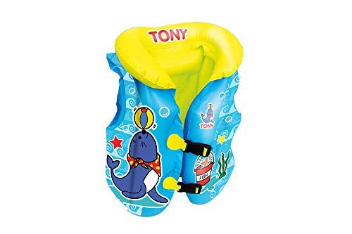 Big summer Child Life Jacket, Inflatable Life Vest for Kids 3-5yr (Blue)