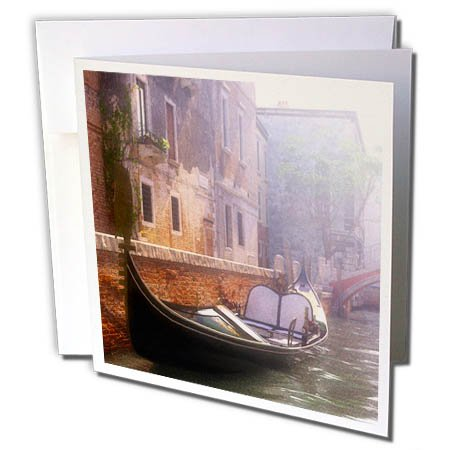 3dRose Boehm Graphics Travel - Canals of Venice with a Gondola - 6 Greeting Cards with Envelopes (gc_282401_1)