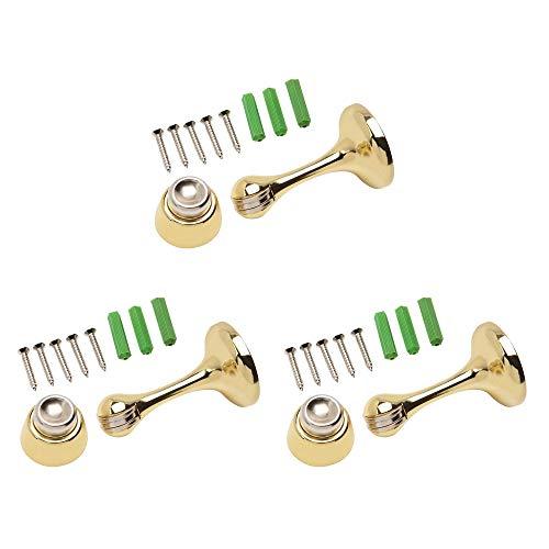 magnetic door stop brass - 2