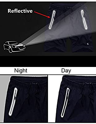 TBMPOY Men's 7'' Running Shorts Reflective Quick Dry Shorts with Zipper Pockets