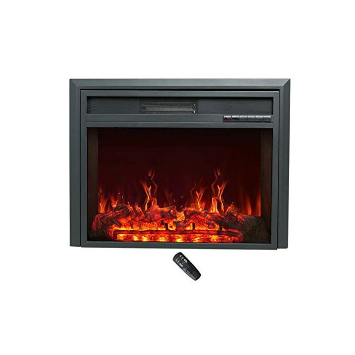 CONTROL REMOTO INFRARROJO con FUNCIÓN DE TEMPORIZADOR: lo mantiene cómodo y cómodo sin esfuerzo. El calor sopla desde la ventilación frontal que deja el calentador frío al tacto. LLAMA REALIZADA Y REGISTRO ARDIENTE - LED de bajo consumo añade un ambiente cálido y acogedor a cualquier habitación con o sin calor - Incluye niveles de brillo ajustables TERMOSTATO DIGITAL: con ajustes de calor alto y bajo más control de temperatura variable de 15°C a 30°C para una comodidad total
