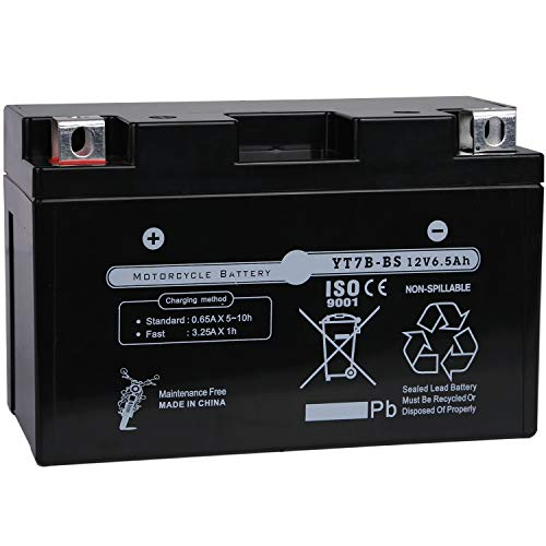 Weize YTX7B-BS Battery High Performance - Maintenance Free - Sealed AGM Motorcycle Battery YT7B BS For Yamaha ATV