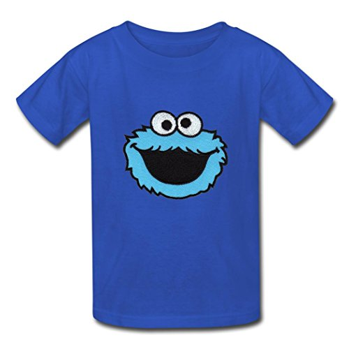 Child's Cotton Custom Sesame Street Live Cookies T Shirt Blue S