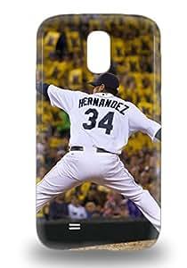 For Galaxy S4 Tpu Phone 3D PC Case Cover MLB Seattle Mariners Felix Hernandez #34 ( Custom Picture iPhone 6, iPhone 6 PLUS, iPhone 5, iPhone 5S, iPhone 5C, iPhone 4, iPhone 4S,Galaxy S6,Galaxy S5,Galaxy S4,Galaxy S3,Note 3,iPad Mini-Mini 2,iPad Air )