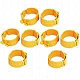 Fuxell 75mm Dia 38mm Width Central Air Conditioner Pipe Clip Clamp Yellow 8pcs