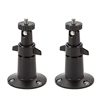 Security Wall Mount- Adjustable Indoor/Outdoor Mount for Arlo, Arlo Pro and Other Compatible Models by Dropcessories (2 Pack – Metal)