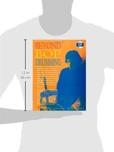 Cover of the classic jazz drumming book The Art of Bop Drumming by John Riley to illustrate its dimensions