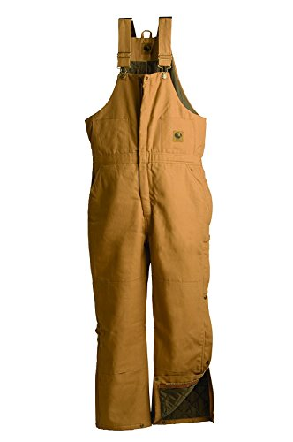 Mens Deluxe Insulated Duck Bib Overall (Brown 4X)