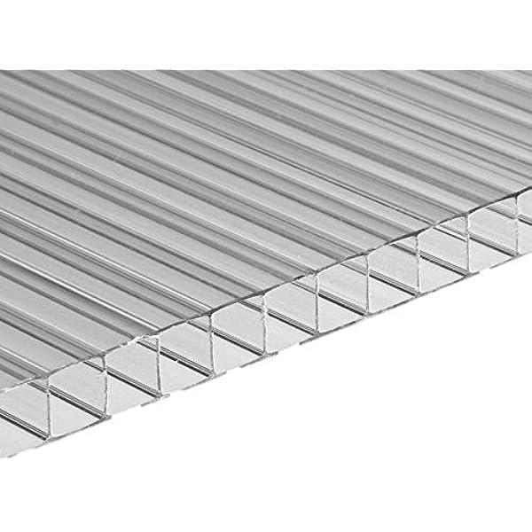 Placa/Panel de Policarbonato Alveolar Traslúcido, 8 mm de grosor, 113,5 x 75 cm: Amazon.es: Bricolaje y herramientas