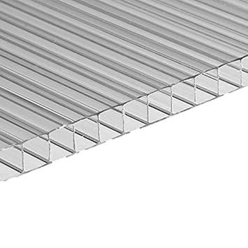 Panel de policarbonato alveolar transparente, 10 mm de grosor, 200 x 105 cm: Amazon.es: Bricolaje y herramientas