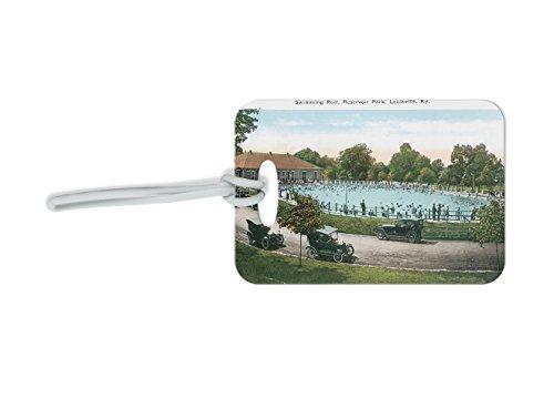 Pool, Reservoir Park, Louisville, Ky Luggage Tag Finder Luggage Bag-2.5