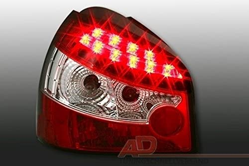 AD Tuning GmbH /& Co KG Feux arri/ère LED Set en Verre Transparent Rouge Blanc