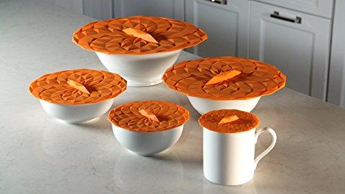 GIR: Get It Right Premium Silicone Round Lid, 6 Inches, Orange