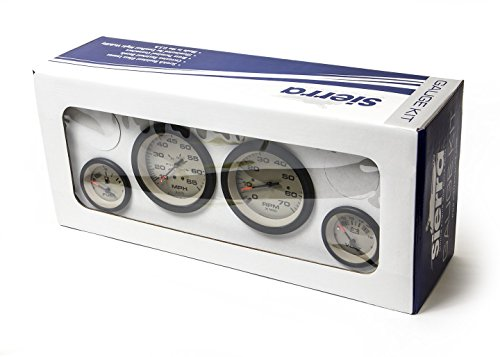 Sierra International 65481P Sahara 4-Gauge Set Includes Speedometer Tachometer Voltmeter & Fuel Gauges