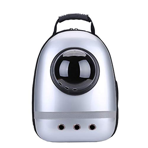 shine-hearty Pet Cat Backpack Breathable Reflective Stripes Dog Puppy Carrier Travel Outdoor Cave Shoulder Bag for Cat,4,M ()