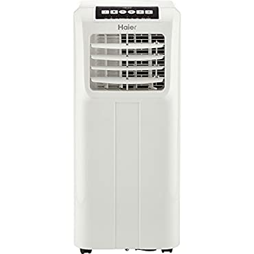 Haier QPCD05AXMW 2 Fan Speed Remote Control Portable Air Conditioner, White