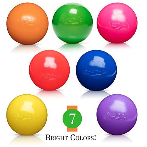 Soft Plastic Kids Play Balls – Non Toxic, 50 Phthalate & BPA Free - Crush Proof & No Sharp Edges; Ideal for Baby or Toddler Ball Pit, Kiddie Pool, Indoor Playpen & Parties, 50 Balls by FoxPrint (Image #3)