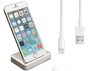 Sincronización y carga muelle de la horquilla estación del cargador para Iphone 6/6 PLUS + Free 1M IOS cable usb 8 y 7 Compatible