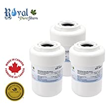 GE MWF, MWFA, GWF, GWFA, GWF01, 46-9991, 46-9996, 469991, 469996, Amana, replacement water filter by Royal Pure Filters RPF-MWF (Pack of 3)