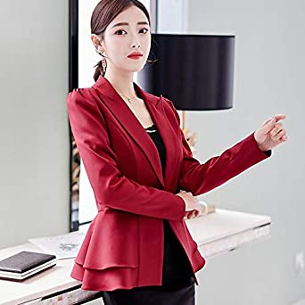 2a11389b264f5 Amazon.com: Fashion Blazer Women Spring Autumn Slim Fit Formal ...