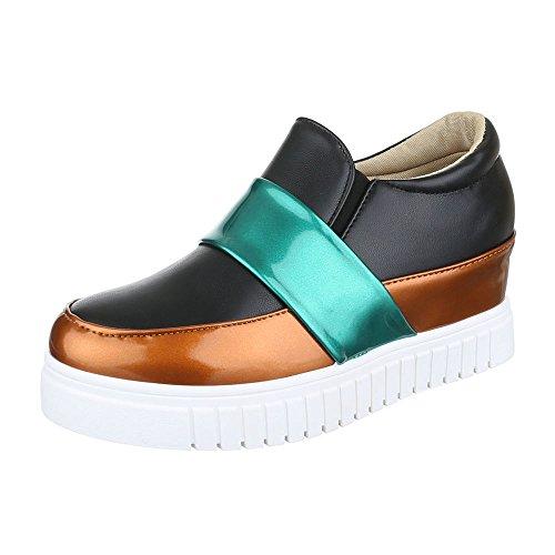 Ital-design - Pantoufles Maison Femme, Couleur Noire, Taille 37