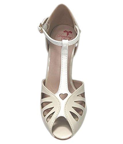 Banned Apparel Secret Love Vintage Retro 50s Shoes Off White