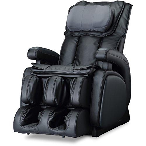 COZZIA 16028-3500-29 Zero Gravity Shiatsu Heat, Adjustable Speed, Strength and Intensity Massage Chair Power Recliner, Black, 171 Pound (Massage Cozzia)