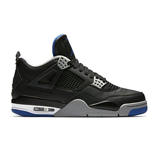 "Jordan Retro 4 ""Alternate Motorsports"" Black/Game Royal-Matte Silver (Size 8.0 US)"