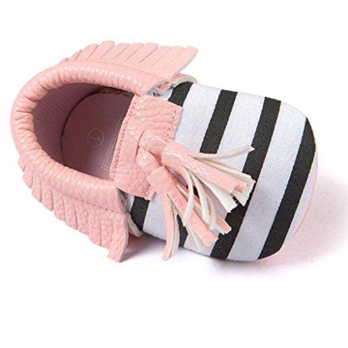 Baby Schuhe,Xinan Baby Mädchen Blume weiche PU-Leder-Schuhe (11, Rot) ◈◈Rosa