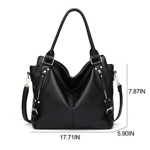 Black Bag For handbags Fashion For SY handle Women Handbags Lady Leather Shoulder Top Shoulder fqOwn