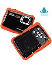 Smyidel Digital Waterproof Camera 12MP HD720p with 3M Waterproof Camera 2.0'' TFT LCD Screen for Sports Swimming Diving and Beaching (Black)