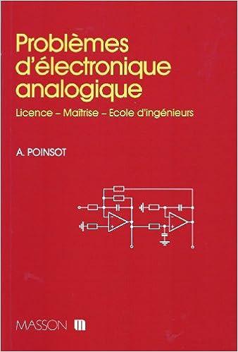 Amazon Fr Problemes D Electronique Analogique Licence