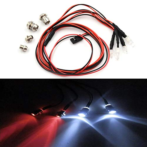 (Part & Accessories 4Pcs RC Car 4pcs RC Model Drift Car LED Night Light 5mm & 3mm Headlamps RC Parts Wholesale)