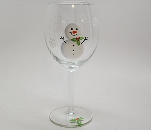 Amazon Com Hand Painted Wine Glasses Christmas Holiday