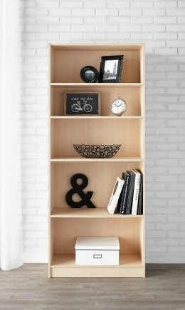 bookcase bookshelf bookcases wood solid post narrow natural tall related
