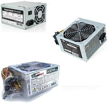 ULDAN - Fuente de alimentación para ordenador (500 W, ATX, BTX, 24 pines, 20 + 4 pines, 3 SATA, 2 IDE, ventilador, 12 cm): Amazon.es: Electrónica
