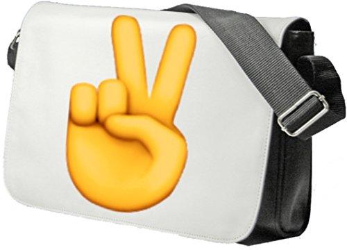 """Schultertasche """"Victory-Geste"""" Schultasche, Sidebag, Handtasche, Sporttasche, Fitness, Rucksack, Emoji, Smiley"""