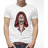 aTIQ T-Shirt for Men - La Casa De Papel Face Mask Salvador Dali